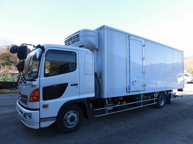 日野 4tワイド 冷蔵冷凍車 低温 格納パワーゲート リアエアサス