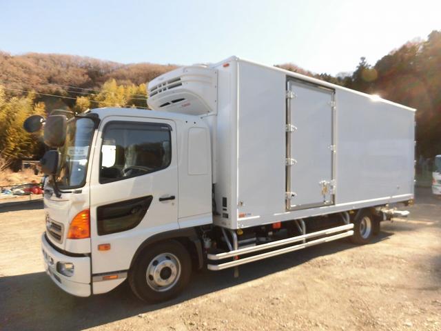 日野 4t標準 冷蔵冷凍車 低温 格納ゲート ベッド付 エアサス