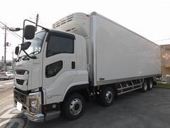 ギガ10t超 冷蔵冷凍車(低温)格納パワーゲート 4軸 エアサス
