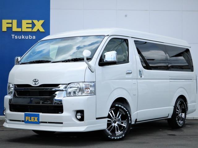 新車ハイエースW「GL」10人乗り4WDガソリン! VER1・フローリング・ベッド・テーブル・SDナビ・フルセグTV!