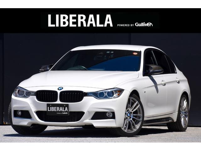 BMW 3シリーズ 320d Mスポーツ ワンオーナー 純正HDDナビ ブラックキドニーグリル カーボンドアミラーカバー Bカメラ 純正19インチAW コーナーセンサー パドルシフト D席パワーシート MTモード付きAT   ミラー型ETC