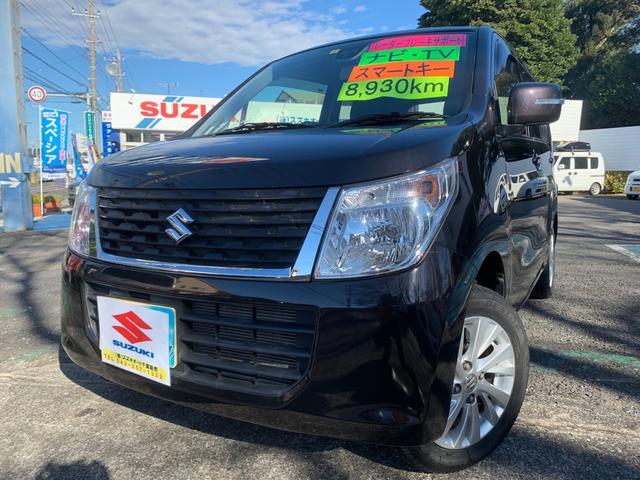 スズキ FXリミテッド 8930km・ワンオーナー禁煙車ナビ・TV・茶色・レーダーブレーキサポートRBS・スマートキー