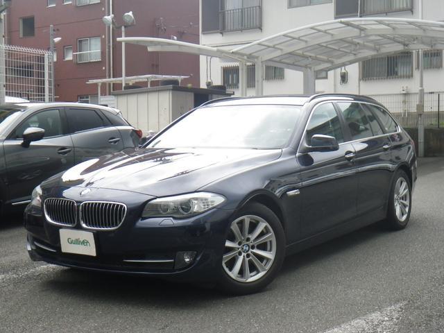BMW 5シリーズ 523iツーリング ハイラインパッケージ 純正HDDナビ フルセグTV バックカメラ コンフォートアクセス クリアランスソナー 黒レザーシート シートヒーター 前席パワーシート アイドリングストップ ミラーETC 後期2000cc/ターボ