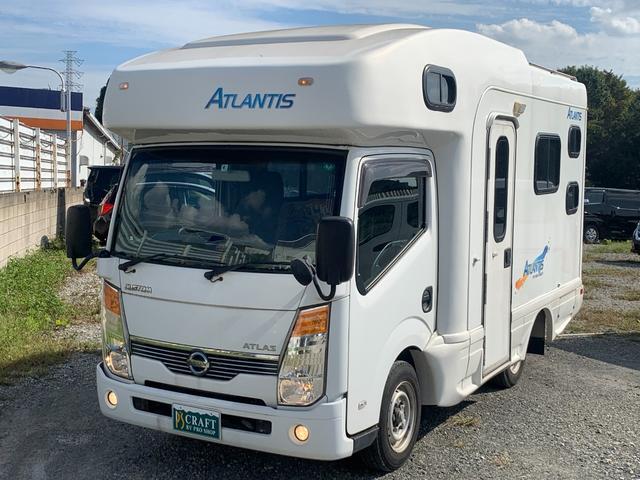 クラフトキャンパー アトランティス 7名乗車 7名就寝 HDDナビ バックモニターFFヒーター 走行充電式サブバッテリー 外部電源 冷蔵庫 レンジ ルーフベント 車検令和5年4月 走行33千キロ