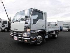エルフトラック2t 強化ダンプ 5MT 新明和 フルフラットロー