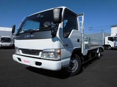 エルフトラック4t ワイド超ロング 高床 6MT 重機運搬車