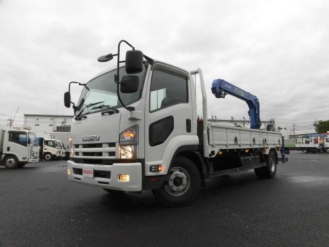 いすゞ 4tクラス ベッドレス リヤクレーン 6MT 荷台5.5m