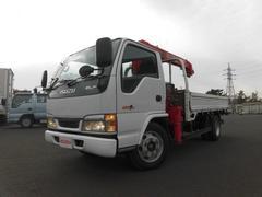 エルフトラック3.9t 標準ロング 2.6t吊 4段クレーン ラジコン付