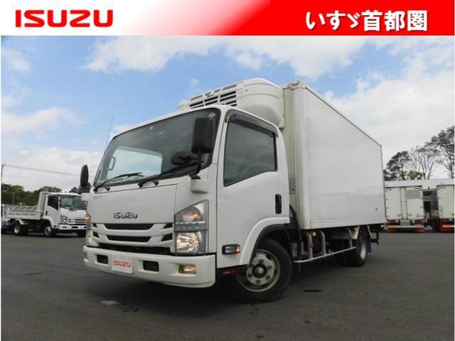 いすゞ エルフトラック 高床・3t・冷蔵冷凍車・東プレ・ラッシング1段・床シマ鋼板張