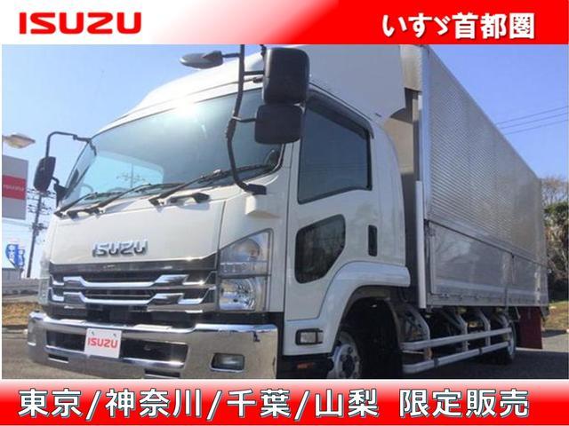 いすゞ フォワード ウイング ワイド・アルミウイング・日本フルハーフ・積載2.850kg・ラッシング2段・助手席側電格ミラー・ベッド付き・バックカメラ・ETC・距離25.000km・6MT