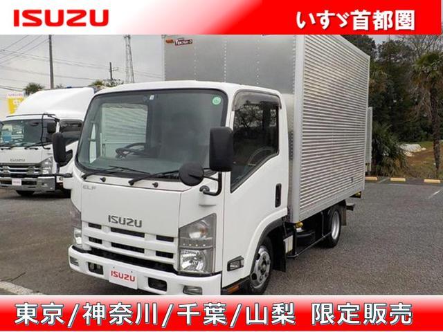 いすゞ エルフトラック フルフラットロー バン・日本フルハーフ・積載2.000kg・ラッシング2段・リア観音扉・助手席側電格ミラー・キーレス・ETC・距離299.000km・5MT・取説・保証書