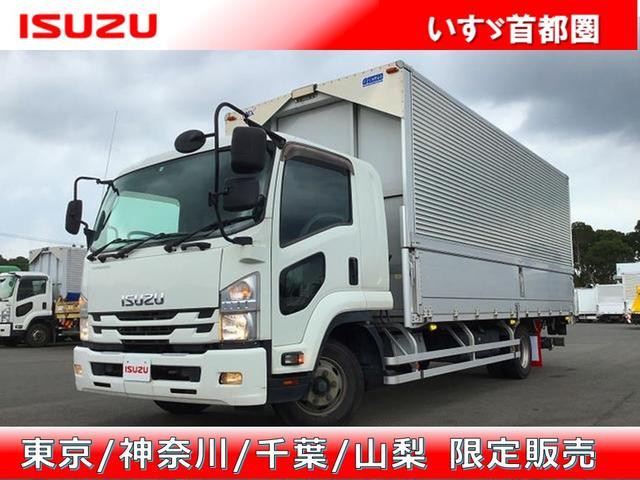 いすゞ ウイング アルミウイング・6MT・日本トレクス製・積載2.700kg・ラッシング2段・引出フック5対・センタービーム・極東開発工業製パワーゲート・オートターン・昇降能力1.000kg・距離234.000km
