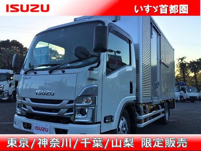 エルフトラック(いすゞ) フルフラットロー バン・スムーサー・日本フルハーフ製・積載2.950kg・ラッシング2段・助手席側サ 中古車画像