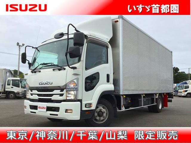 いすゞ バン アルミバン・6MT・日本フルハーフ製・積載3.200kg・ラッシング2段・日本フルハーフ製パワーゲートオートターン昇降能力1.000kg・バックカメラ・助手席側電格ミラー・距離201.000km
