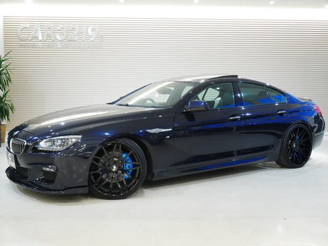BMW 6シリーズ 640iグランクーペサンルーフ・ローダウン・22インチAW サンルーフ・ローダウン・フォージアート22インチAW・純正HDDナビ・レーダークルコン・レーンキープ・