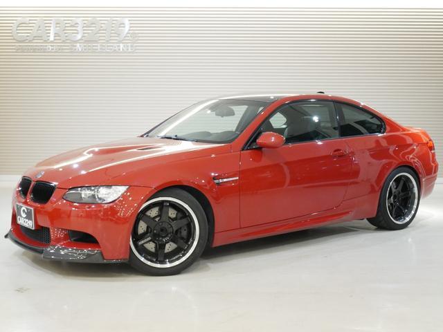 BMW M3クーペ レイズ19インチアルミ・Mドライブ・フロントリップ・リアデェフィーザー・カーボンルーフ・ブラックグリル