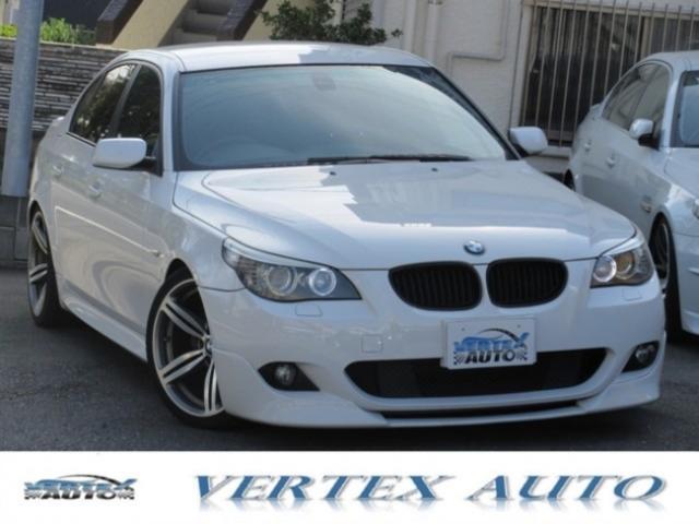 BMW 5シリーズ 525i Mスポーツパッケージ /社外AW19/バックカメラ/ETC/マフラー/ハ-フレザ-/スプリントマフラー/ビルシュタイン足回り/フロントリップ/クルコン
