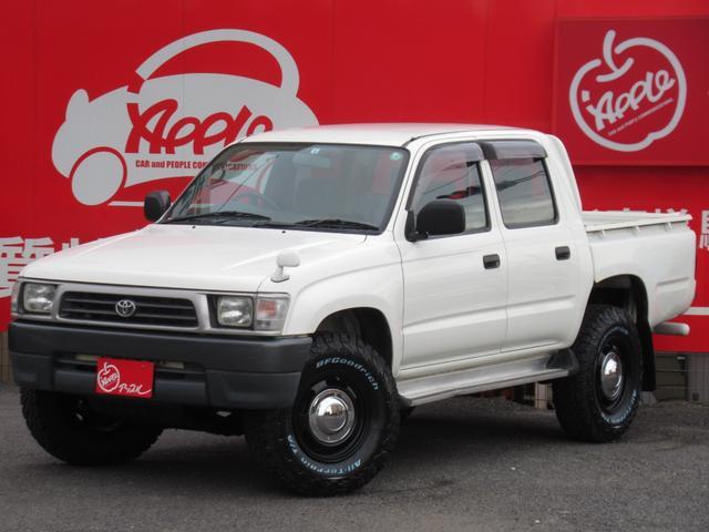 トヨタ ハイラックス WキャブDX 97,823km時タイミングベルト交換済 5MT 4WD