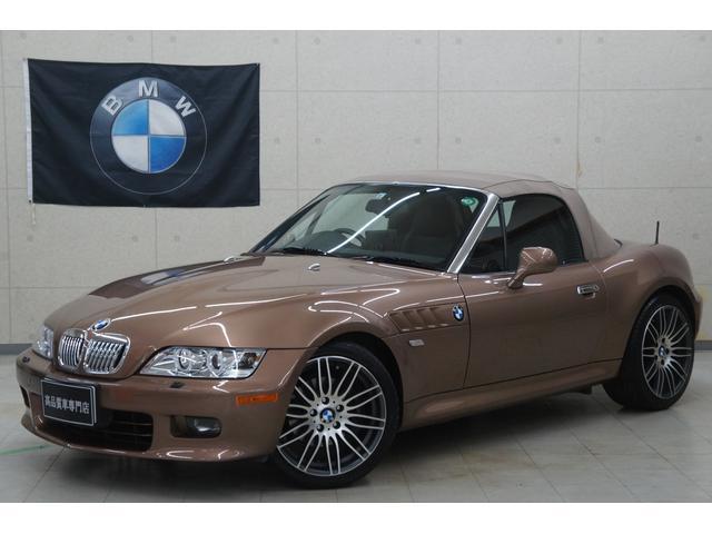 BMW Z3ロードスター 3.0i 後期 純正オプションカラー 弊社カスタム 黒レザー ベージュ幌 18AW イカリング 地デジナビ