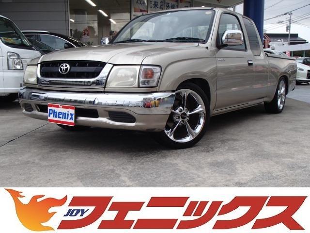 トヨタ エクストラキャブ 社外CDオーディオ17メッキAWローダウン