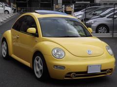 VW ニュービートル1.8T ターボ 黒革 サンルーフ ローダウン 17アルミ