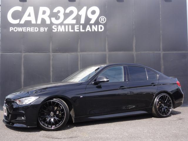 BMW 320d Mスポーツ MARVINダウンサス RAYS19インチAW フロントリップスポイラー  トランクスポイラー ステアリングリモコン クルーズコントロール インテリジェントセーフティー ETC 電動シート