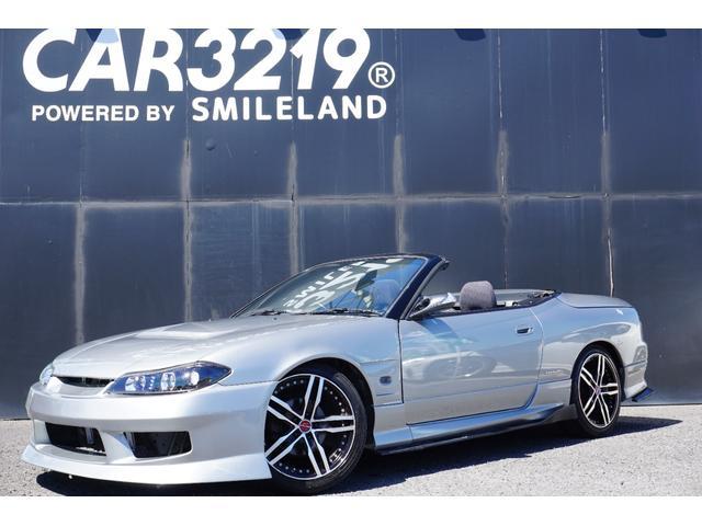 日産 ヴァリエッタ ユーザー買取 GABプロッソ車高調 シャレン18インチAW Newフロントバンパー Newヘッドライト Newボンネット 純正5速車両