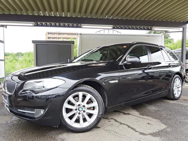 BMW 5シリーズ 523iツーリング ハイラインパッケージ ユーザー買取車 禁煙 HDDナビ DVD再生 音楽録音 フルセグTV バックカメラ USB AUX ETC スマートキー2本 オートライト オートワイパー オートAC クルコン 電動シート 黒革シート