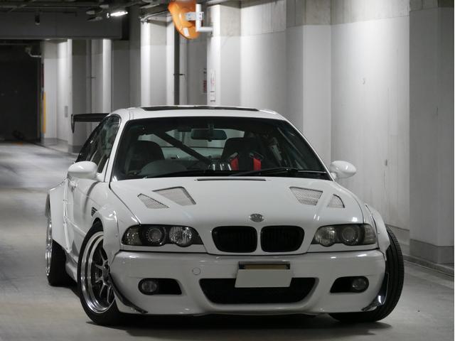 BMW M3クーペ 右H SMG2 オーバーフェンダー GTウィング 社外ナビ ロールケージ フルバケットシート 車高調 サンルーフ