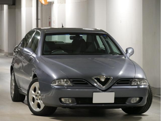 アルファロメオ アルファ166 2.5 V6 24V スポルトロニック ワンオーナー 右H ディーラー車 ディーラー記録簿多数 電動シート シートヒーター