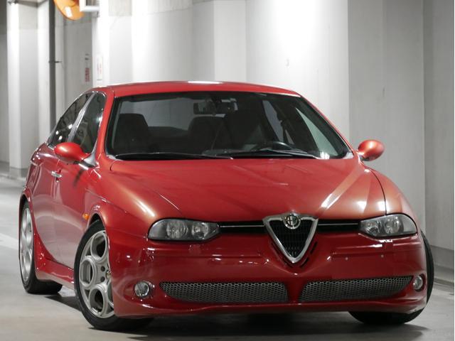 アルファロメオ アルファ156 GTA 3.2 V6 24V 正規ディーラー車 左H 6MT ヌヴォラレッド キダスペシャルマフラー 社外車高調 イモラレザー タイベル交換済み ACコンプレッサー交換済み