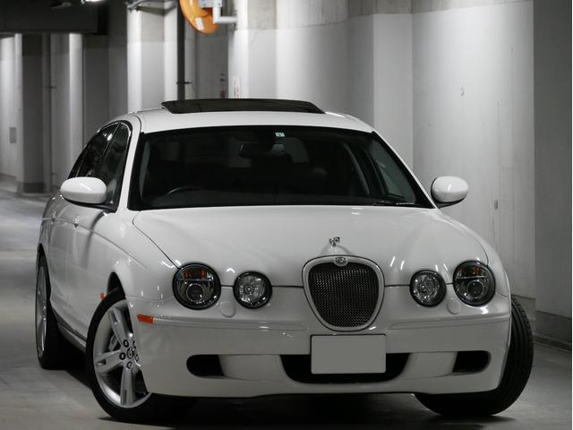 ジャガー Sタイプ R 正規ディーラー車 ブレンボキャリパー サンルーフ HID 地デジ バックカメラ ミシュランPS4 右H