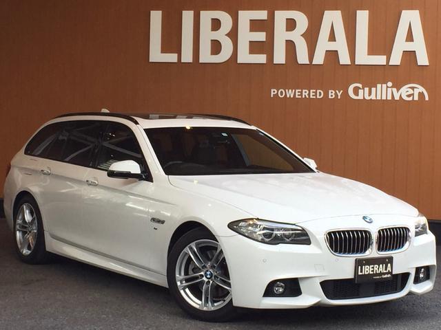 BMW 5シリーズ 523dツーリング Mスポーツ パノラマサンルーフ ACC 衝突軽減システム 車線逸脱警告 HDDナビ フルセグTV バックカメラ コンフォートアクセス パワーバックドア 18インチAW ETC キセノンヘッドライト パドルシフト