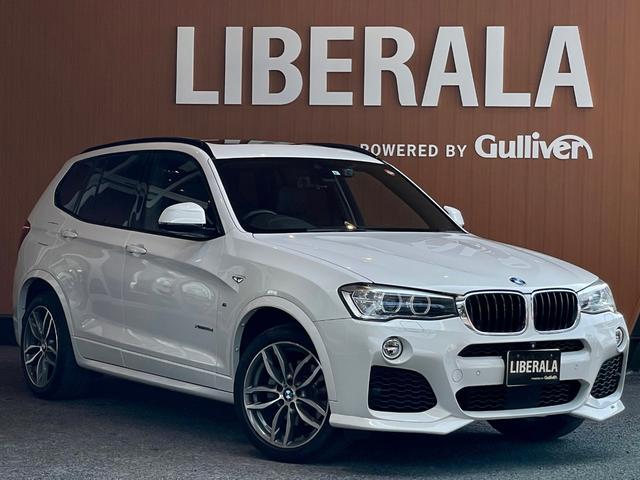 BMW X3 xDrive 20d Mスポーツ ACC パノラマSR ACシュニッツァーエアロ HDDナビ TV トップビューカメラ 衝突軽減ブレーキ 車線逸脱警告 車線変更警告 パワーシート コンフォートアクセス パワーバックドア 19インチAW