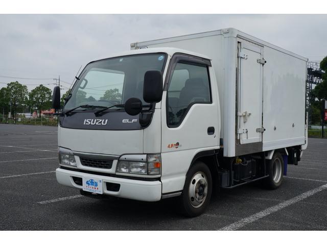 いすゞ エルフトラック フルフラットロー冷蔵車2WDディーゼルパワーバックゲート付き
