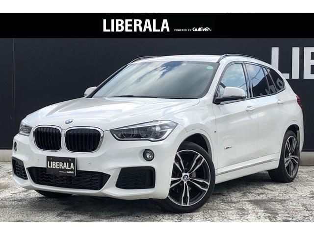 BMW X1 xDrive 18d Mスポーツ インテリSFT ACC HUD 純正HDDナビ 社外フルセグ Bカメラ ETC 黒革 パワーシート/ヒーター 電動Rゲート HID PDC コンフォートA 純正19インチAW 社外前後ドラレコ