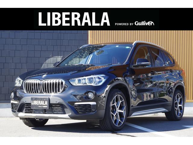 BMW X1  ヘッドアップディスプレイ 後席モニター フルセグTV アクティブクルーズコントロール インテリジェントセーフティ 茶革シート コンフォートアクセス PWテールゲート 純正HDDナビ Bカメラ ETC