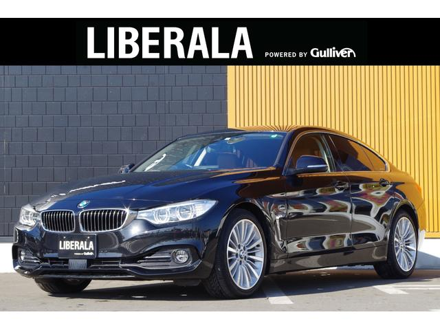 BMW 4シリーズ 420iグランクーペ ラグジュアリー アクティブクルーズコントロール インテリジェントセーフティ ブラウンレザーシート パワーシート シートヒーター 純正ナビ バックカメラ リアPDC パワーバックドア コンフォートアクセス