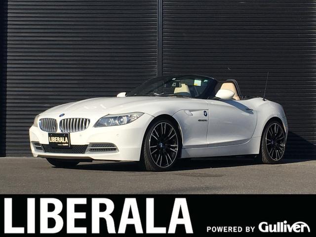 BMW Z4 sDrive35i Mスポーツパッケージ ベージュ革シート シートヒーター パワーシート OP19アルミ 電動オープン 純正HDDナビ フルセグ ETC 新車時保証書 取説