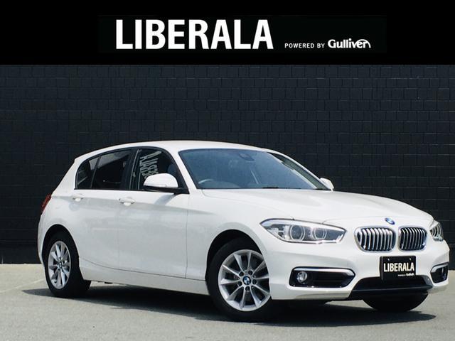 BMW 118i スタイル 純正ナビ Bカメラ フルセグ ハーフレザー プラスPKG LEDライト パーキングサポートPKG ドライビングアシストPKG クルコン インテリSFT 純正16AW