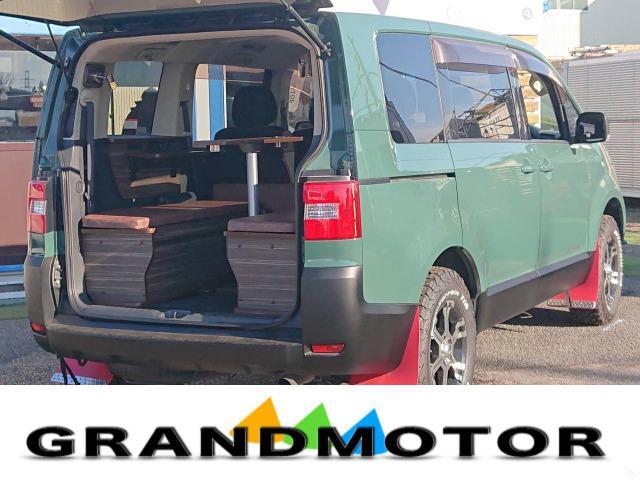 三菱 G パワーパッケージ キャンピングカー 新規架装 車中泊 全塗装 グッドリッチホワイトレター MKW16AW マッドフラップ
