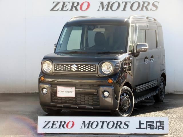 スズキ スペーシアギア ハイブリッドXZ ターボ 4WD 左右電動スライドドア スマートキー LEDライト シートヒーター 保証付