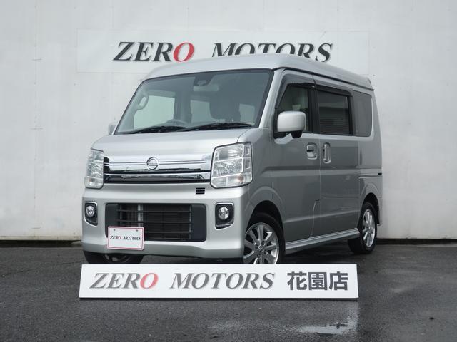 日産 E タ-ボ 4WD ハイルーフ ブレ-キ補助 スマ-トキ- 電動スライドドア HIDライト シ-トヒ-タ- エアロ アルミ 電格ミラ- 保証付