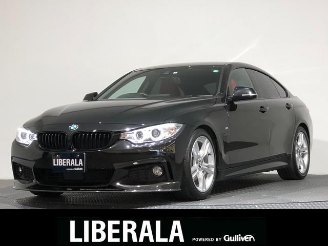 BMW 4シリーズ 420iグランクーペ Mスポーツ インテリジェントセーフティ/レーンアシスト/BSA/ACC/Pアシスト/HDDナビ/フルセグTV/Bカメラ/赤革/フロント&トランクカーボンスポイラー/ARQRAYマフラー/ACSCHNITZERサス