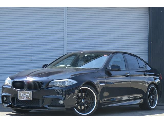 BMW 5シリーズ 523i Mスポーツパッケージ クルコン/パワーシート/オートデュアルエアコン/HDDナビ/DVD再生/ミュージックサーバー録音/フルセグ/バックカメラ/スマートキー/HIDライト/Bluetooth電話/前後ドラレコ/社外リアスポ