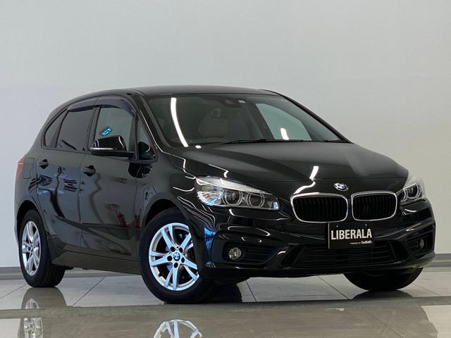 BMW 2シリーズ 218dアクティブツアラー ラグジュアリー 本革 HDDナビ BlueTooth対応 Bカメラ ミラー一体型ETC スマートキー オートライト LED Rコーナーセンサー フロアマット バイザー プライバシーガラス 保証書 取説 スペアキー有