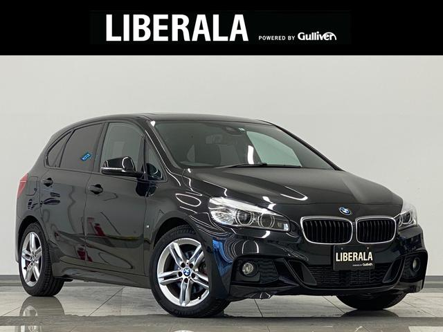 BMW 218dアクティブツアラー Mスポーツ サンルーフ インテリジェントS Bカメラ PDC Aテールゲート 純正HDDナビ DVD再生 BT USB AUX コンフォートA LEDライト