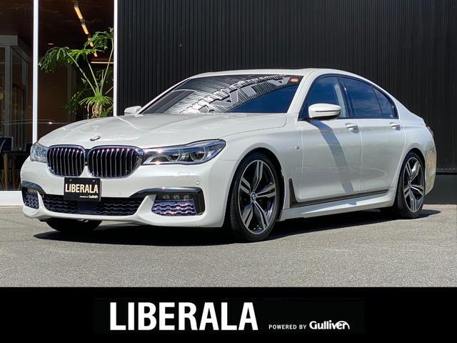 BMW 7シリーズ 740i Mスポーツ セレクトPKG サンルーフ harman/kardon HUD 全席シートヒーター エアシート ソフトクローズドア 純正ナビ CD DVD Bluetooth USB フルセグ ドラレコ ETC