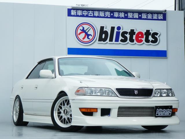 トヨタ マークII ツアラーV 5速MT公認済/BBS17インチアルミ/STD車高調/アペックス新品エアクリ/LSD/HPI前置きインタークーラー/110ミッション(R154)/カロッツェリオーディオ