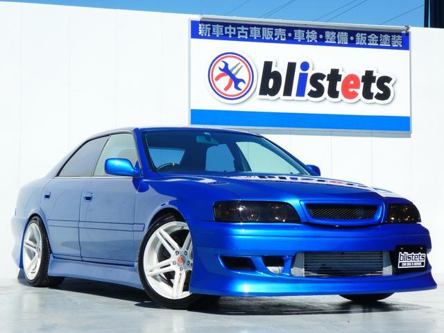 トヨタ ツアラーV ツアラーSベース/5速MT公認済(R154)/E/G公認済(ターボエンジン)/前置きIC/HKS車庫調/クスコ車高調/フルエアロ/HKSエアクリ・ターボタイマー/BRAVO18インチホイール/マフラー